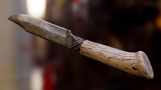 Нож из стального троса