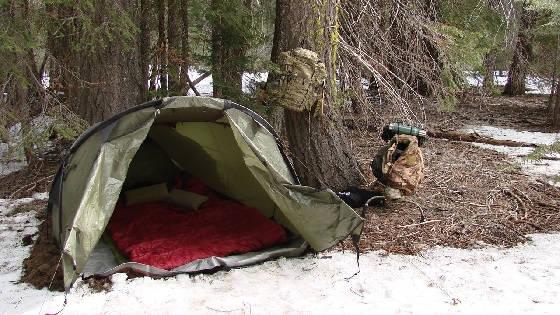 Обогрев палатки без печки древесным углем