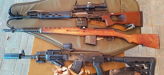 стрельба по стальной пластине 15 мм из Впо 209, ТИГР и СВТ-40