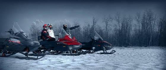 На снегоходе в тайгу за хариусом