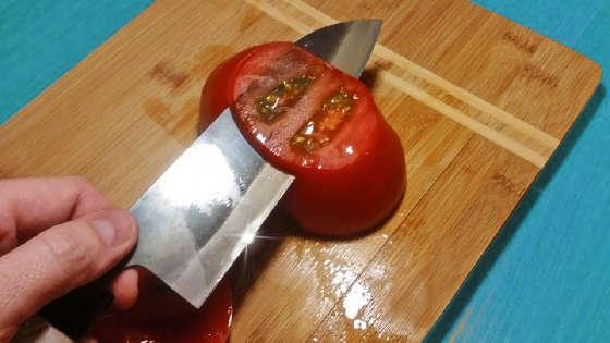 заточить нож до бритвенной остроты
