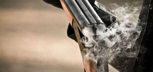 Проверка боя ружья по картонкам