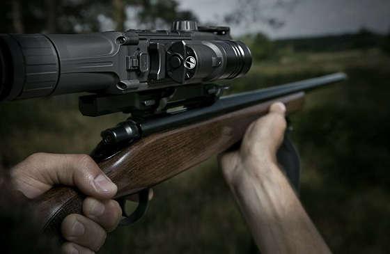 Охота с ночным прицелом Pulsar Digisight N455