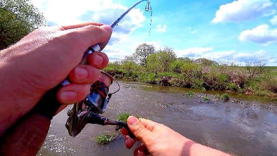 Ловля голавля на кренки на малой реке