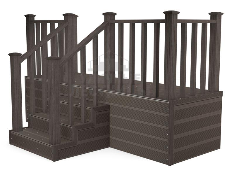 """Металлическое крыльцо от компании """"Уличные лестницы"""" - это надежно и практично"""