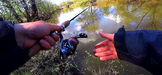 Рыбалка на малой речке Подмосковья