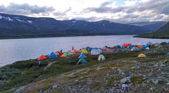 Многодневка в палаточном лагере