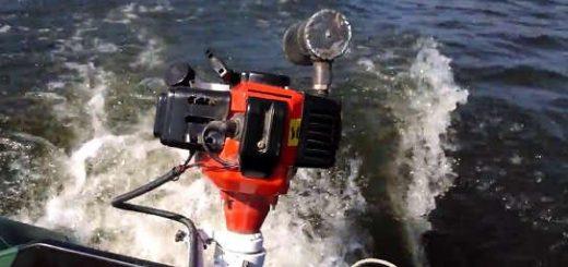 Лодочный мотор из ГАЗОНОКОСИЛКИ своими руками