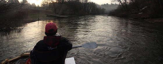 СПЛАВ НА ПЛОТУ по небольшой реке
