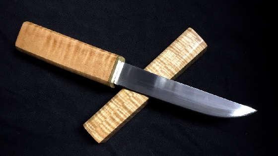 Как сделать нож Танто из подшипника своими руками?