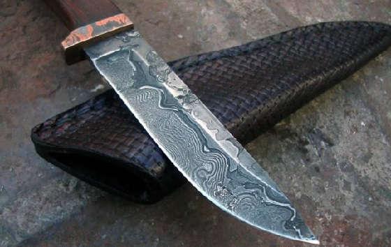 Дамасская сталь из старой цепи бензопилы