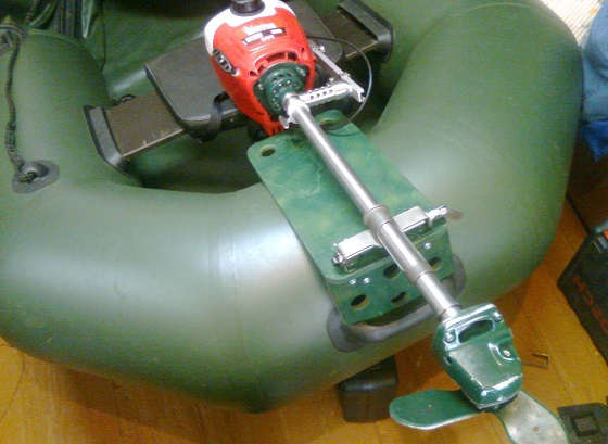 самодельный лодочный мотор из мотокосилки