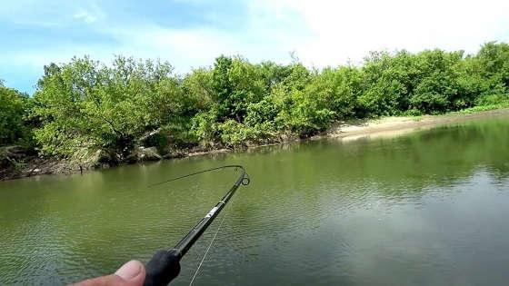 Рыбалка на реке в конце лета