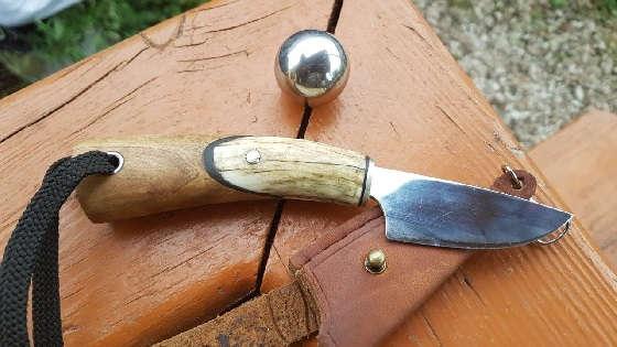 Нож из шариков подшипника