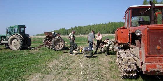 Как подготовить трактор для охоты?