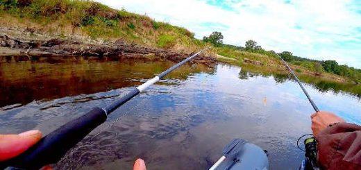 Рыбалка в речном коряжнике в конце лета