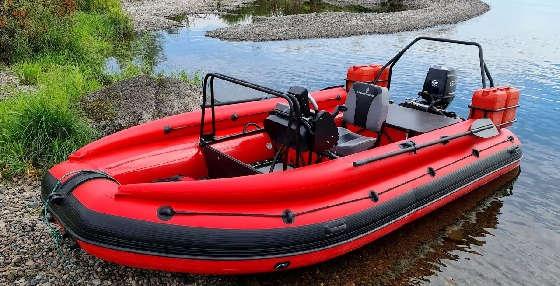 ПРОХОДИМАЯ ПВХ лодка для рыбалки SOLAR 470 SuperJET