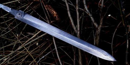 Изготовление меча из дамасской стали