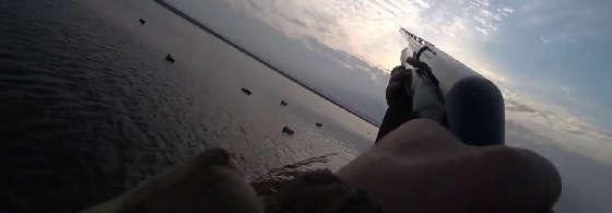Охота на утку на болотоходе и с чучелами