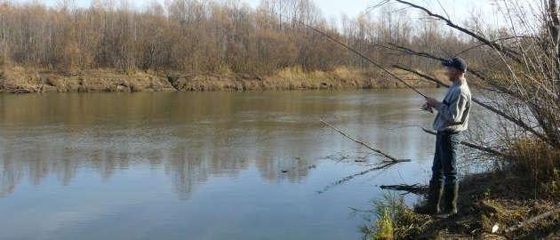 Рыбалка на Оби поздней осенью