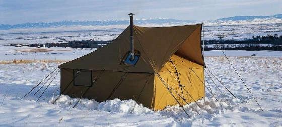 Палатка с печкой