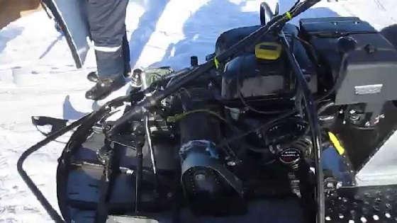 Снегоход с двигателем от автомобиля