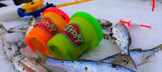 ЗИМНЯЯ РЫБАЛКА на Play-Doh