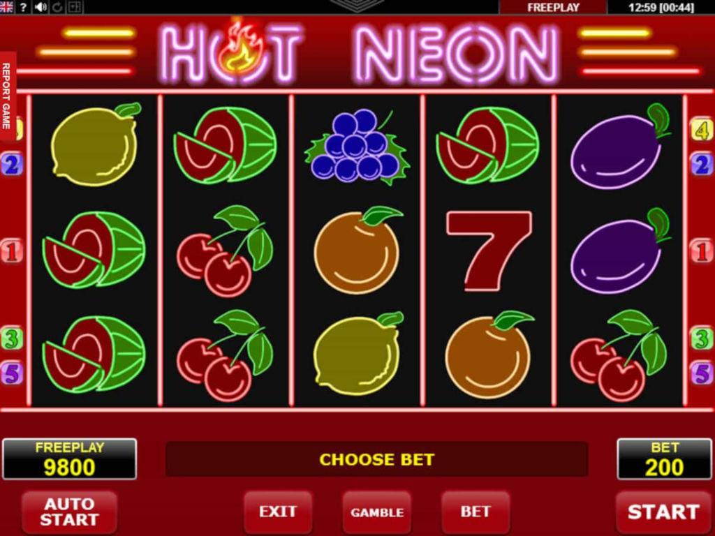 Игровой автомат Hot Neon