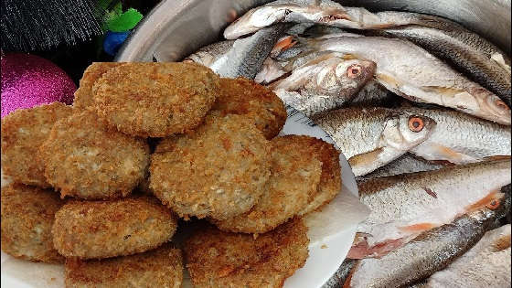Котлеты из мелкой рыбы