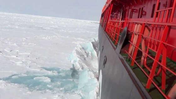 Как ледокол ломает лед