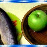 Авторский форшмак с печёным яблоком и сельдью пряного посола