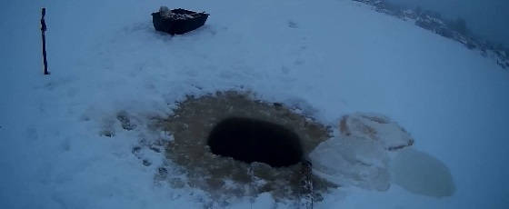 салазки для установки сети под лёд