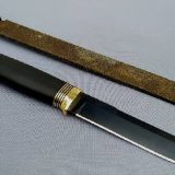 Изготовление ножа с Чёрным лезвием из напильника
