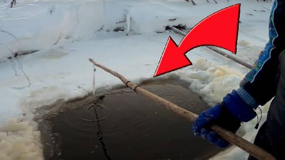 Рыбалка на паук подъёмник зимой в лунках