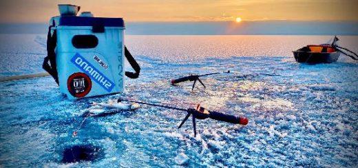 Рыбалка на плотву на Кременчугском водохранилище со льда в январе