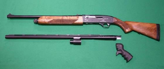 Длинный и короткий ствол дробовика на охоте