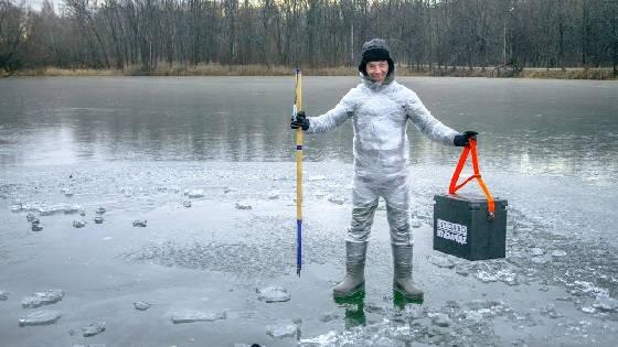 Костюм из ПЛЕНКИ для зимней рыбалки