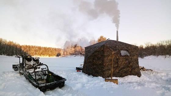 Зимняя рыбалка в палатке с домашним комфортом