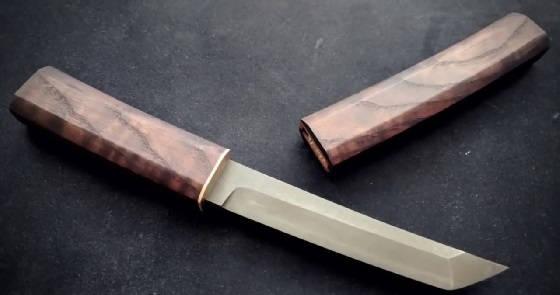 нож Танто из подшипника