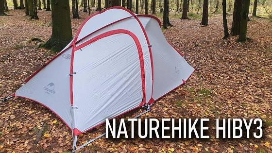 Трехместная ветроустойчивая палатка Naturehike hiby 3