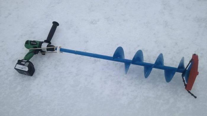 Самодельный электробур для зимней рыбалки