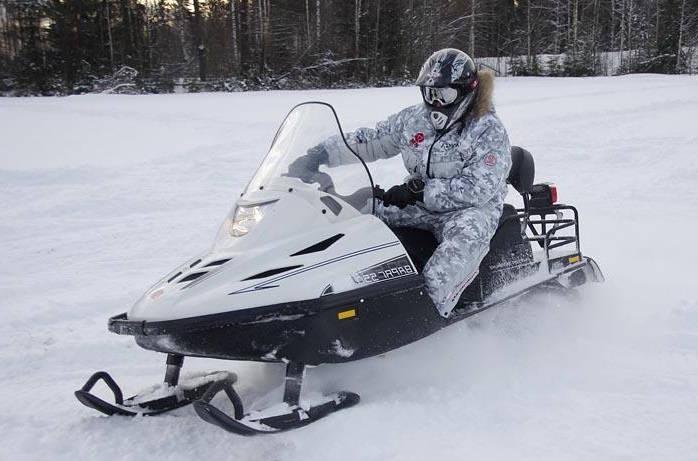 Максимальна скорость на снегоходе Тайга-Варяг 550