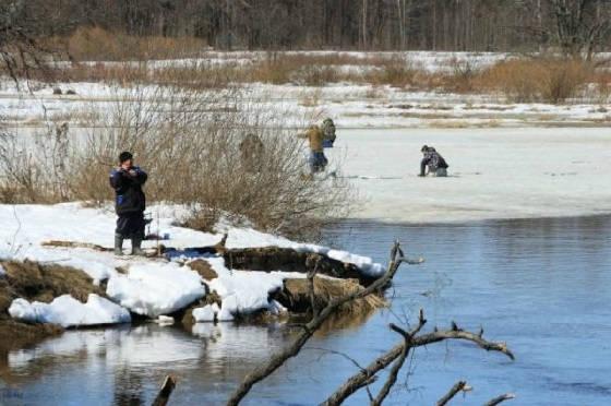 Поиск места ловли в начале весны