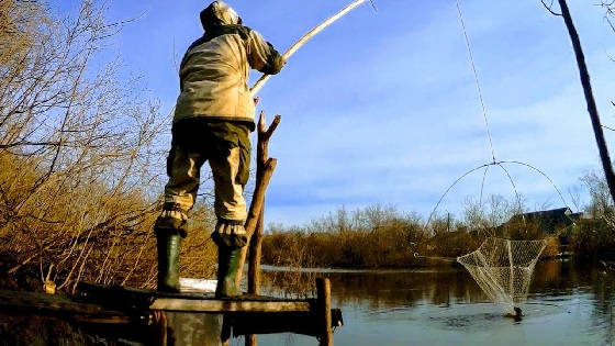 Рыбалка на паук подъёмник