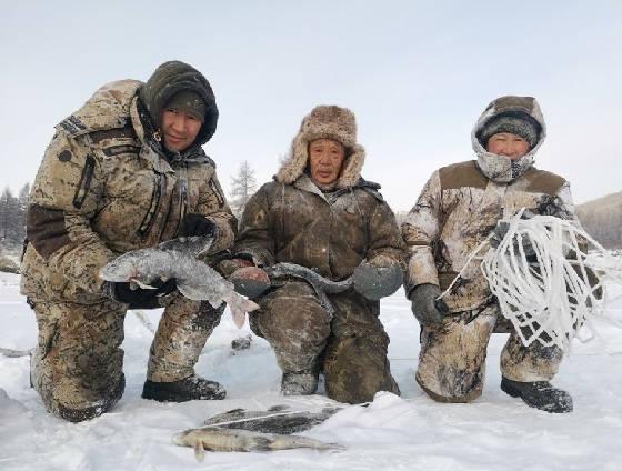 Трофейные рыбы Себяна зимой