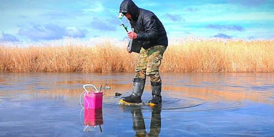 жерлицы на опасный последний лёд