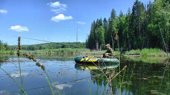 окунёвое место на озере