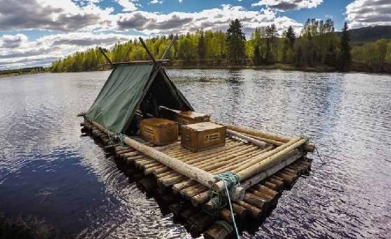 вариант постройки деревянного сплавного плота