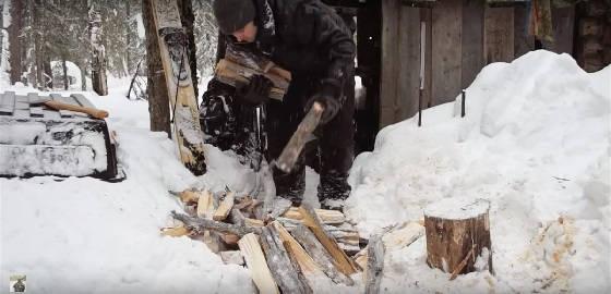 Заготовка дров по-таежному