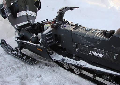 Ремонт снегохода YAMAHA в таежных условиях